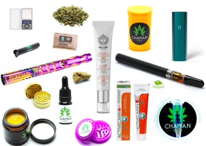 Accessoires CBD Vaporisateurs, baumes de massage, cosmétiques